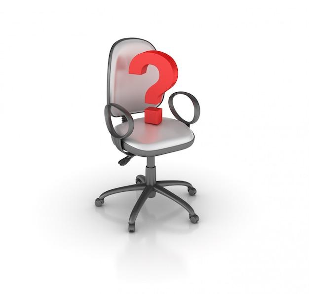 Krzesła biurowe ze znakiem zapytania