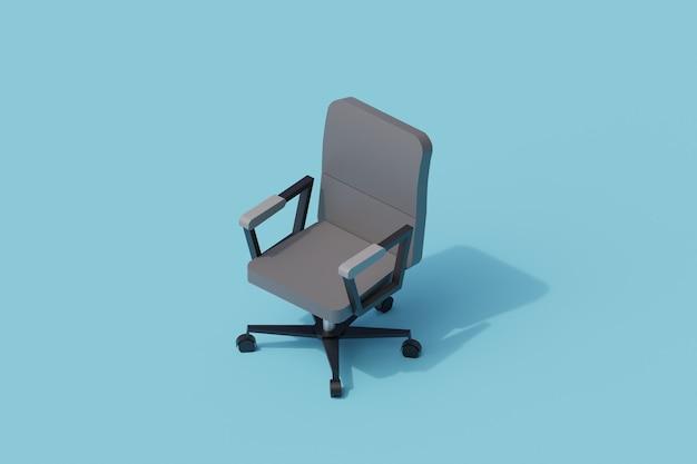 Krzesło pojedynczy izolowany obiekt. 3d render ilustracji izometryczny