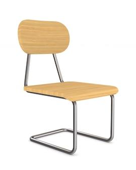 Krzesło szkolne. izolowane renderowanie 3d