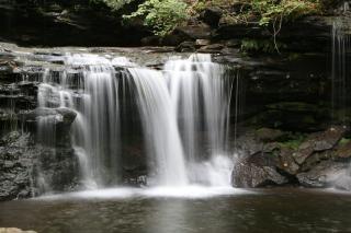Krzywica wodospady glenn, glenn