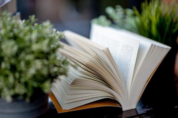Książka umieszczona na biurku wiele książek