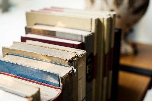 Książki biblioteczne badania uczą się czytać książki