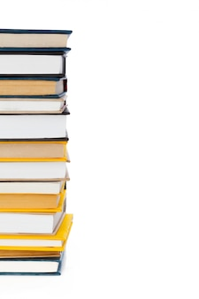 Książki na białym tle