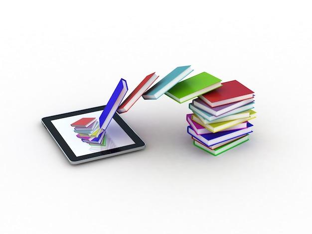 Książki wlatują do twojego tabletu