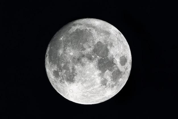Księżyc - pełnia księżyca w nocy