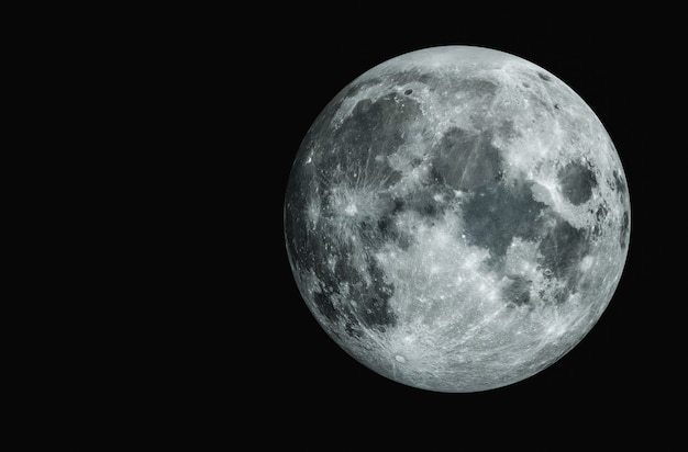 Księżyc w pełni piękna tekstura księżyca