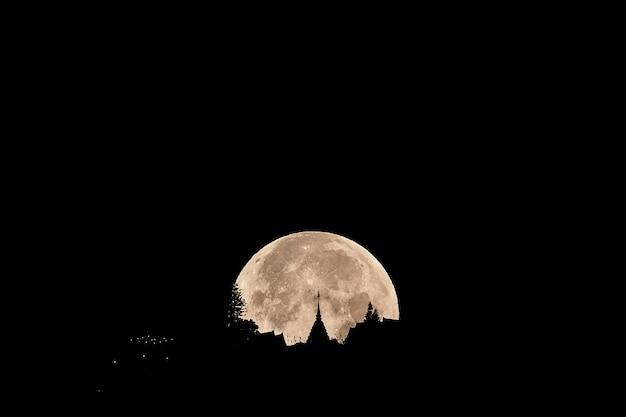 Księżyc w pełni supermoon 2019