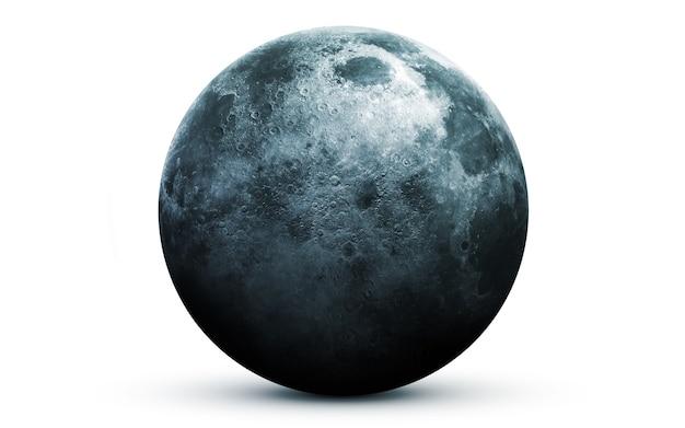 Księżyc w przestrzeni, ilustracja 3d.