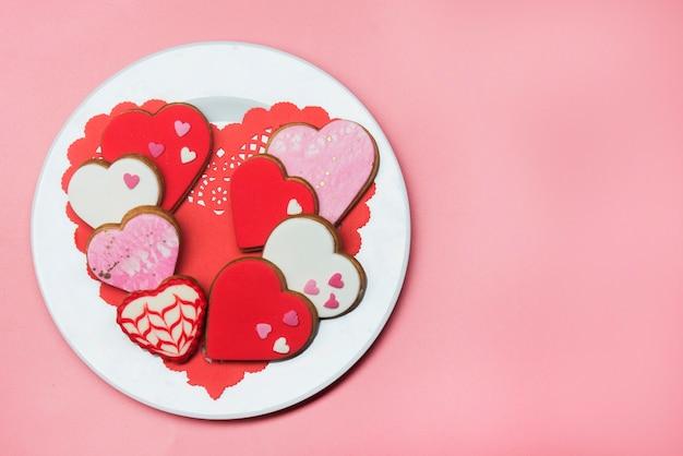 Kształt ciasta na romantyczny dzień