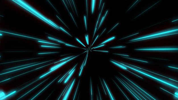 Kształt linii neon blue i red light ciemne smugi proste.