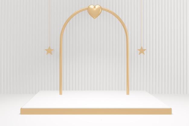 Kształt podium minimalistycznej sceny produktu. renderowanie 3d