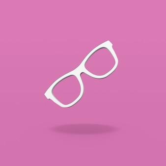 Kształt ramki okulary na fioletowym tle