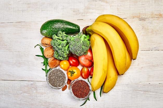 Kształt serca zdrowia żywności dla serca