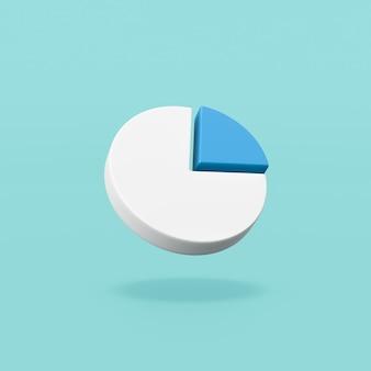 Kształt symbolu diagramu kołowego na niebiesko