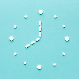 Kształt zegara tabletek