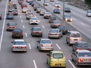 Kuala lumpur widok autostrad, dróg