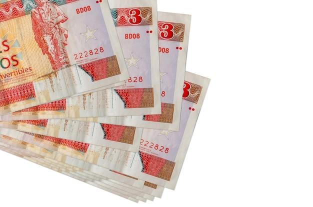 Kubańskie peso zamienne rachunki r. w duży stos