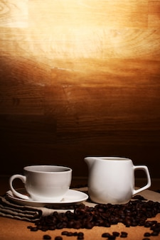 Kubek gorącej kawy
