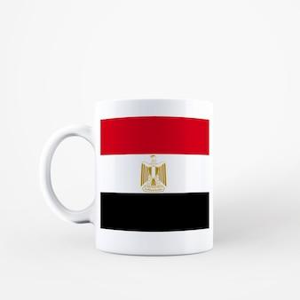 Kubek z flagą egiptu