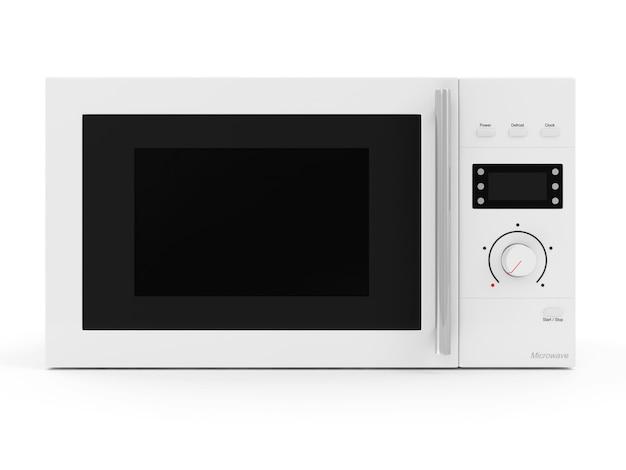 Kuchenka mikrofalowa na białym tle