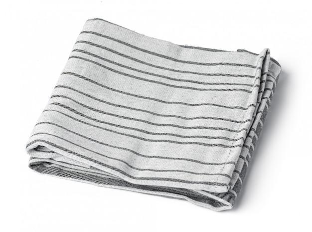 Kuchenny ręcznik odizolowywający na białym tle