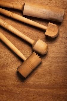 Kuchnia. drewniane przybory kuchenne