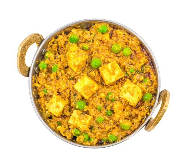 Kuchnia indyjska mattar paneer food