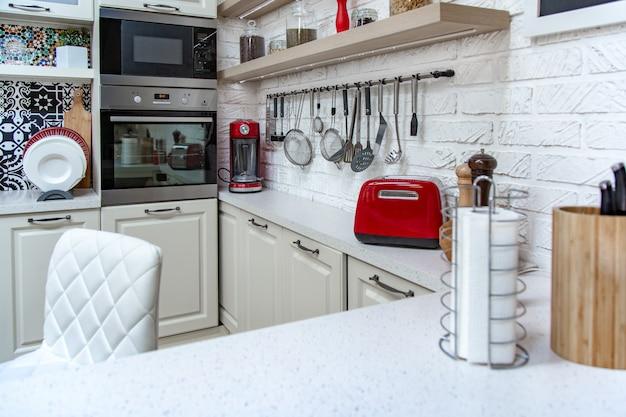 Kuchnia, lekki design, nowoczesny styl, klasyczny design