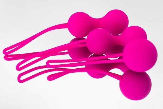 Kulki Kegla Sex Zabawki Różowe Kulki Kegla Kulki Gejszy Premium Zdjęcia