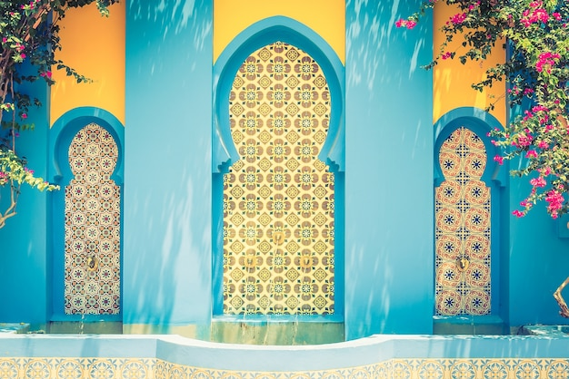 Kultura arabska tło maroko marokański