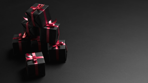 Kupie prezentów czarny piątek z miejsca na kopię