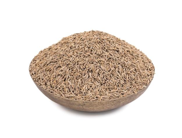 Kupie suszonych nasion kminku