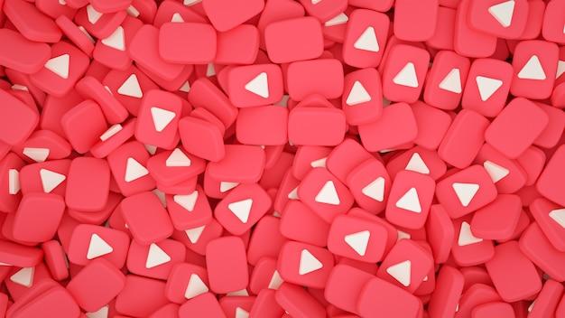 Kupie youtube 3d ikony tła