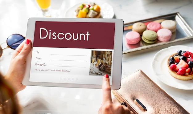 Kupon podarunkowy kupon rabatowy oferta specjalna
