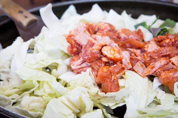 Kurczak warzyw stir-fry