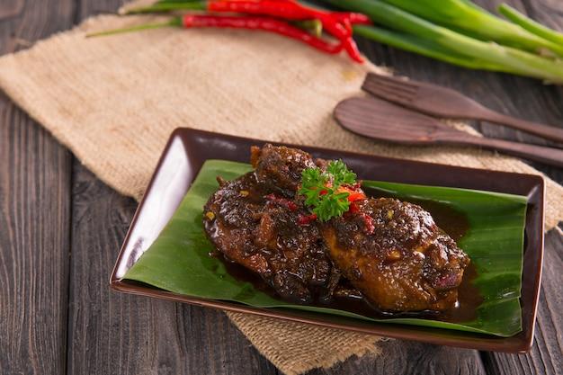 Kurczak z sosem sojowym i chili