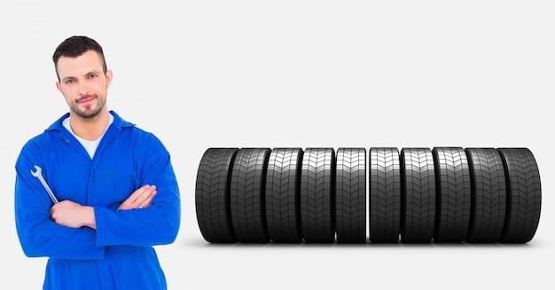 Kurtka stojących ramię zawodowe mechanik