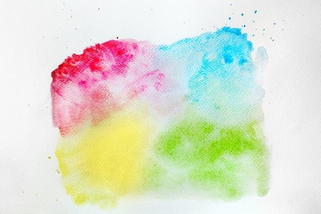 Kwadrat z kolorowym barwnikiem