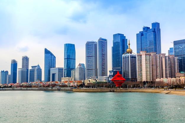Kwadratów miasta panoramę tła architektury seascape