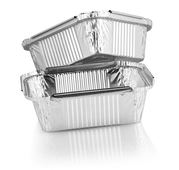 Kwadratowe kubki do pieczenia z folii aluminiowej