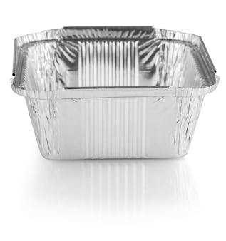 Kwadratowe Kubki Do Pieczenia Z Folii Aluminiowej Premium Zdjęcia