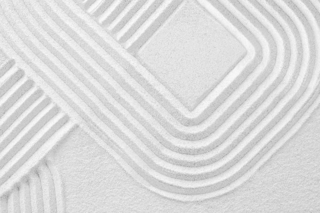 Kwadratowy piasek zen w koncepcji uważności