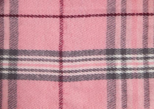 Kwadratowy wzór tkaniny tło. tekstury różowo-biała bawełniana tkanina. wzór na tkaniny. komórka. koszule w kratę. modna ilustracja do tapet. projektowanie mody i projektowanie wnętrz domu