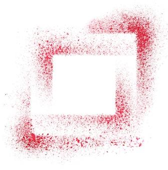 Kwadraty. czerwone tło z szablonem - miejsce na własny tekst - ilustracja rastrowa