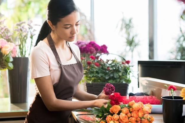 Kwiaciarnia w sklepie