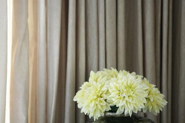 Kwiat dekoracja i zasłony tło