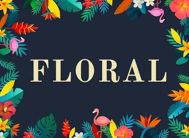 Kwiat kwiatowy naturalny płaska konstrukcja
