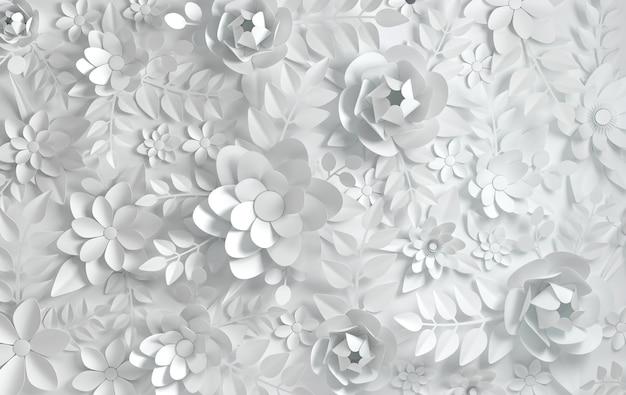 Kwiaty bielone z papieru