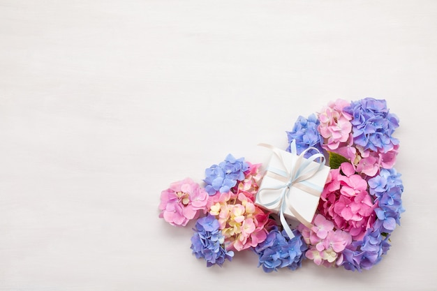 Kwiaty hortensia