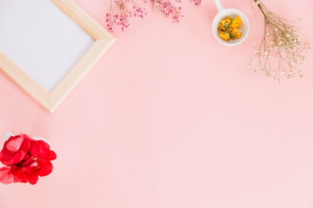 Kwiaty i ramka